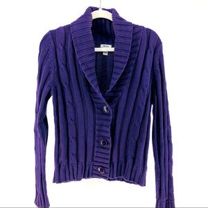 Izod Chunky Cable-Knit Cardigan, Oversized Buttons